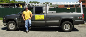 David A. Morehouse and his company truck.